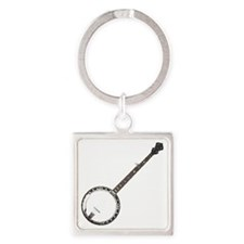 great-theory-blk-T Square Keychain