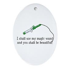 Beauty Shop Magic Oval Ornament