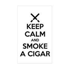 Keep Calm And Smoke A Cigar Decal