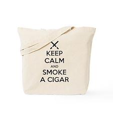 Keep Calm and Smoke a Cigar Tote Bag