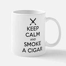 Keep Calm and Smoke a Cigar Mugs