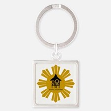 eQ:roots:culture Square Keychain