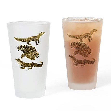 alligators Drinking Glass