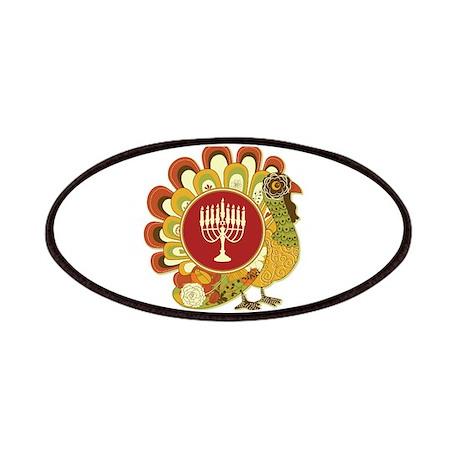 Decorative Turkey Menorah Patches