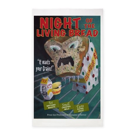 Night of the Living Bread 3'x5' Area Rug