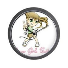 gamer girls unite copy Wall Clock