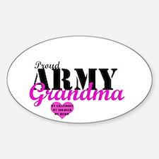 Army Grandma Oval Decal
