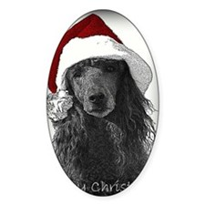 Christmas Poodle Decal