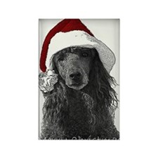 Christmas Poodle Rectangle Magnet