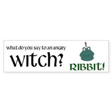 Angry Witch bumper sticker Bumper Bumper Sticker
