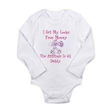 Pretty Like Mommy Long Sleeve Infant Body Suit