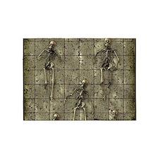Brassy Skeletons 5'x7'Area Rug