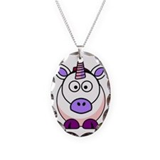 Unicorn Necklace Oval Charm