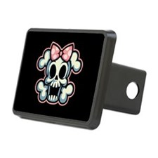 girly-skull1113-T Hitch Cover