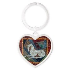 Tribal Meditations Heart Keychain