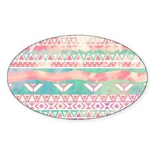 Watercolor Turquoise Pink Girly Abs Decal