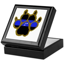 Brown Thin Blue Line Paw Enforcement  Keepsake Box
