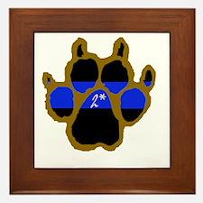 Brown Thin Blue Line Paw Enforcement 2 Framed Tile