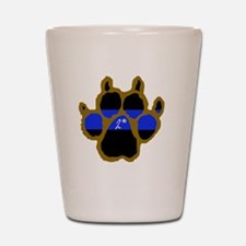 Brown Thin Blue Line Paw Enforcement 2  Shot Glass