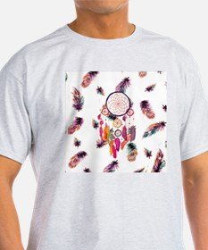 Hipster Watercolor Dreamcatcher Feat T-Shirt