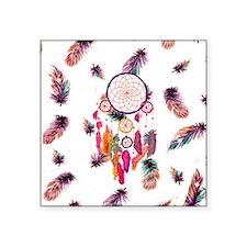 "Hipster Watercolor Dreamcat Square Sticker 3"" x 3"""