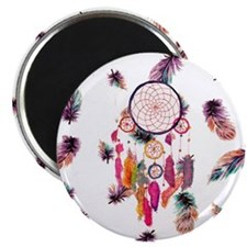 Hipster Watercolor Dreamcatcher Feathers Pa Magnet