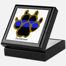 Brown Thin Blue Line Paw Enforcement Keepsake Box