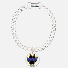 Brown Thin Blue Line Paw Bracelet