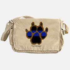Brown Thin Blue Line Paw Enforcement Messenger Bag