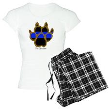 Brown Thin Blue Line Paw En Pajamas