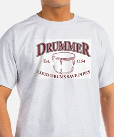 Drummer Ash Grey T-Shirt