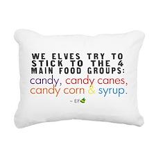 'Funny Elf Quote' Rectangular Canvas Pillow