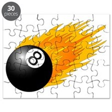 Flaming 8 Ball Puzzle