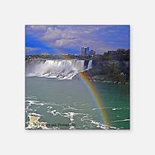 American Falls Rainbow Square Sticker 3&Quot; X 3&