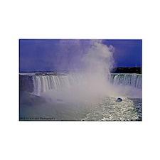 Horseshoe Falls And Boat Rectangle Magnet