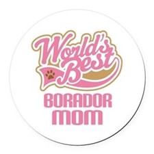 Borador Dog Mom Round Car Magnet