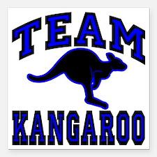 "Team Kangaroo B1cx Trans Square Car Magnet 3"" x 3"""