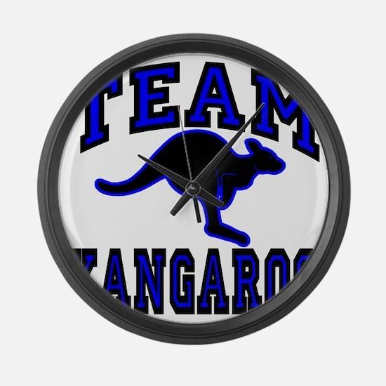 Team Kangaroo B1cx Transparent Large Wall Clock