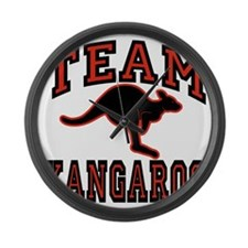 Team Kangaroo A4cx Transparent Large Wall Clock