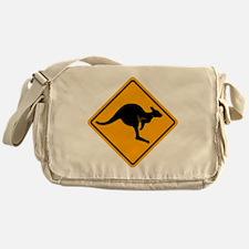 Kangaroo Sign A2 copy Messenger Bag
