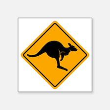 "Kangaroo Sign A2 copy Square Sticker 3"" x 3"""