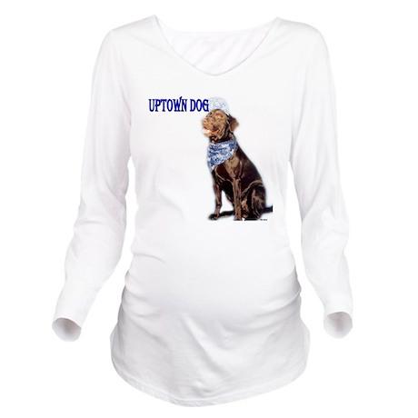 uptown dog Long Sleeve Maternity T-Shirt