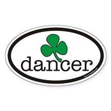 Irish Dancer Euro Oval Decal