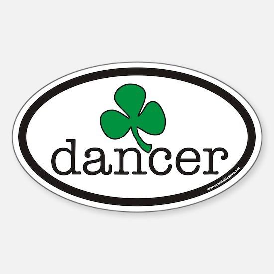 Irish Dancer Euro Oval Decal