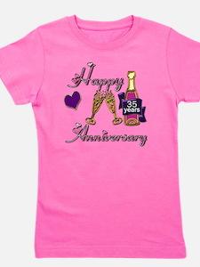 Anniversary pink and purple 35 copy Girl's Tee
