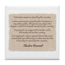 Tile Coaster: Roosevelt patriotism