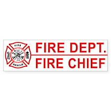 Fire Department Fire Chief Bumper Car Sticker