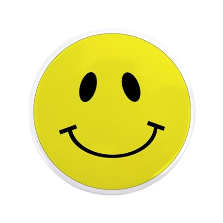 """smiley-face-large 3.5"""" Button"""