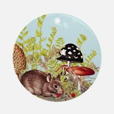 woodland mouse-mousepad Round Ornament