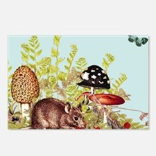 woodland mouse-mousepad Postcards (Package of 8)